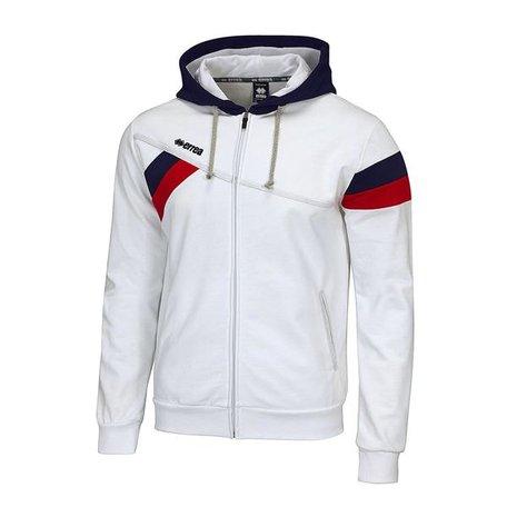 Funk sweater met rits wit maat S