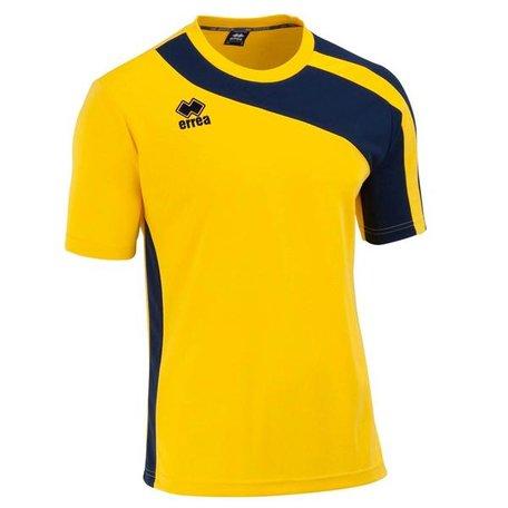 Bolton kinder shirt geel/navy maat XS-XXS
