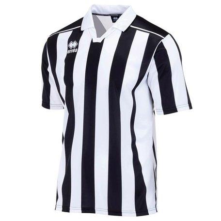 Eyre voetbalshirt korte mouw zwart/wit outlet maat XXL