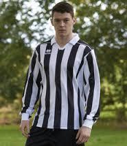 Eyre voetbalshirt lange mouw zwart/wit outlet maat S
